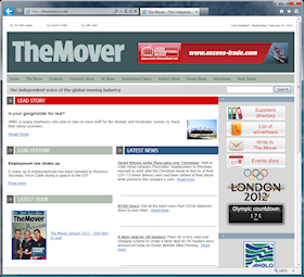 The design of TheMover.co.uk closely follows the layout used in the printed magazine, providing a coherent brand.  News articles and other material are published every day, maintaining interest for site visitors and search engines, and thus building site traffic rapidly.